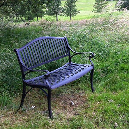 Lazy Susan Furniture – Grace Metall Gartenbank Antique Bronze (kein Kissen) - 5