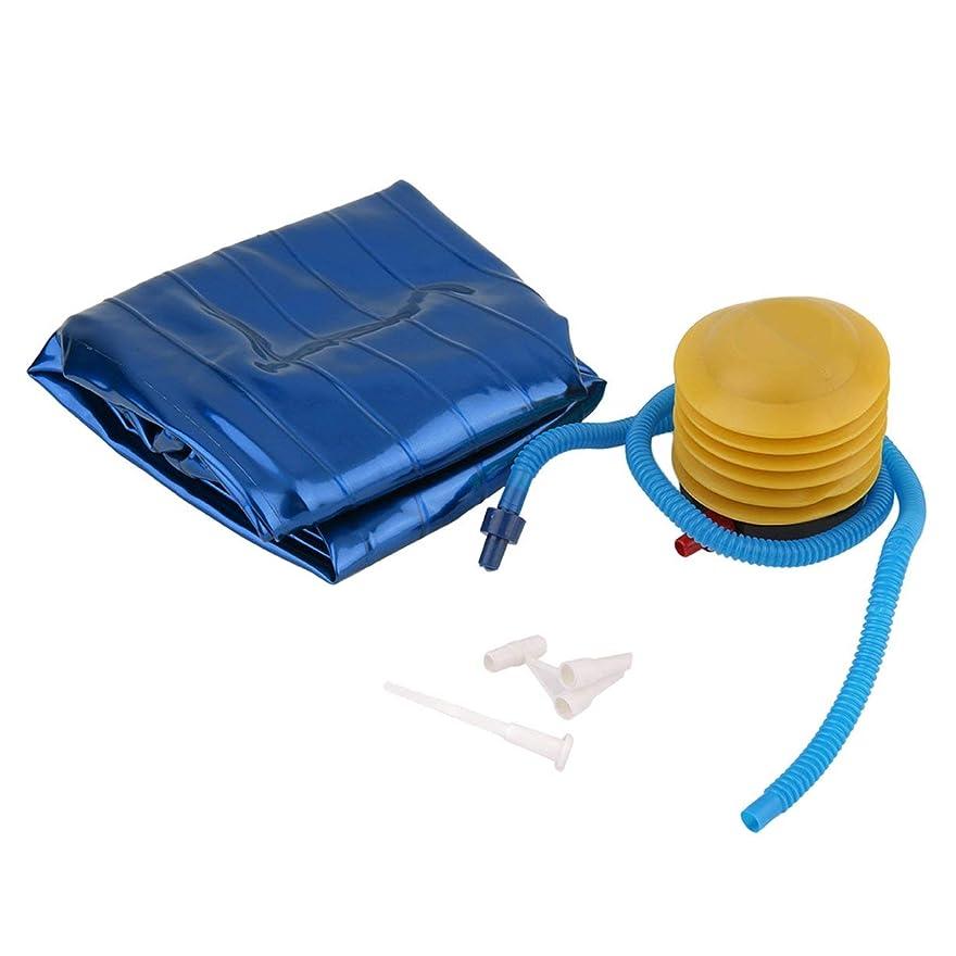 事控える伝染性のフィットネスピラティスヨガボールユーティリティウェイトトレーニングの柔軟性バランススポーツ厚みのあるPVC滑り止めポンププラグ付きフィットネス用 - 青
