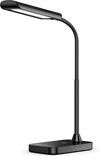 TaoTronics LED Desk Lamp, Flexible Gooseneck Table Lamp, USB Charging Port, 5 Color Temperatures with 7 Brightness Le...