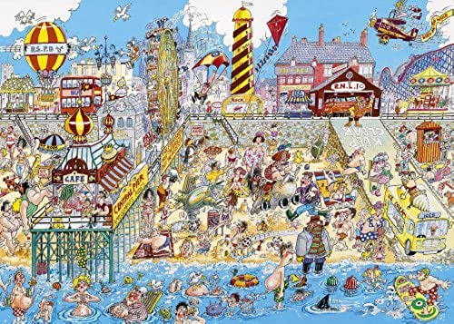Gibsons - Great British Seaside 1000 Piece Jigsaw Puzzle by Gibsons Games