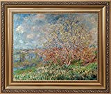 Claude Monet Wall Art Reproduction Monet's Paintings Canvas Lily Flowers Bridge at Sea Rose Pond Framed Ready to Hang