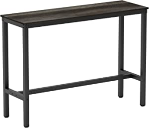 Teraves Bar Table with Solid Metal Frame,Counter Height Dining Table Kitchen Bar Table for Dining Room,Living Room (39.37