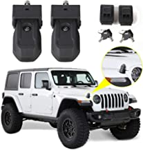 RT-TCZ Hood Latches Hood Lock Catch Latches Kit Anti-Theft Accessories for 2018-2019 Jeep Wrangler JL 2-Door 4-Door