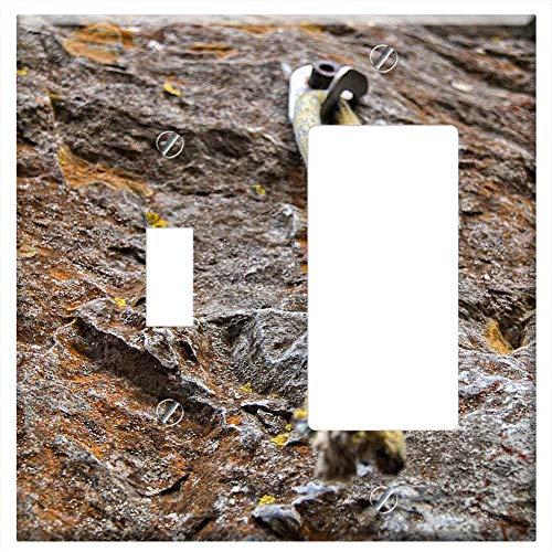 Toggle Rocker/GFCI Combination Wall Plate Cover - Knot Climbing Climb Yellow Rock Tight Trust
