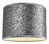 Pendentif/Abat-jour en tissu scintillant argenté moderne et design, 30 cm de large par Happy Homewares
