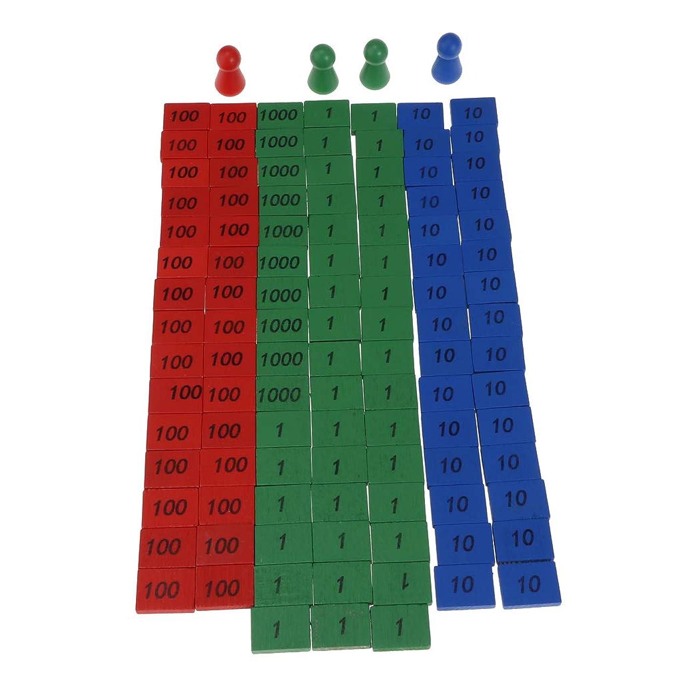 かけがえのない志すバスルームT TOOYFUL カラフルな 木製 ラウンドヘッドコーン 数字の小片数 数学 子供 教育玩具 木製ピース