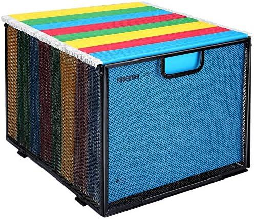 Hanging File Folder Organizer Mesh Metal File Organizer Box Office Filing Crate Folder Holder product image