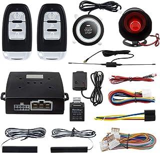 $74 » EASYGUARD EC003-NS PKE car Alarm Proximity Entry Push Start Button Remote Engine Start Shock Alarm Warning DC12V
