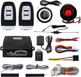 EASYGUARD EC003-NS PKE car Alarm Proximity Entry Push Start Button Remote Engine Start Shock Alarm Warning DC12V