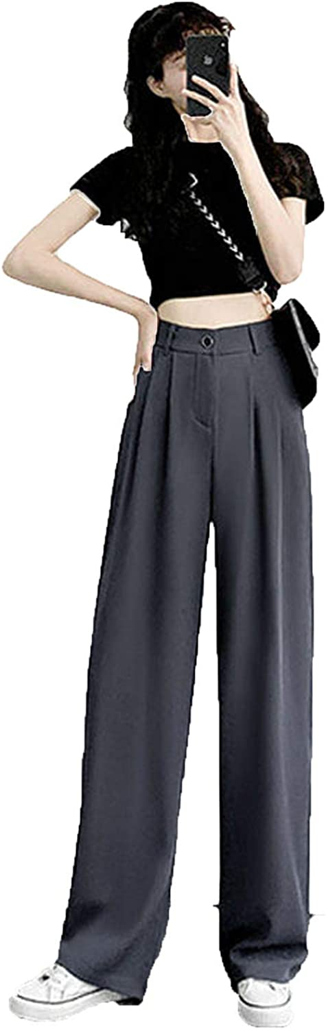 Casual Pants Women Solid Mopping Autumn Loose All-Match Solid Teens Korean Style Chic Vintage
