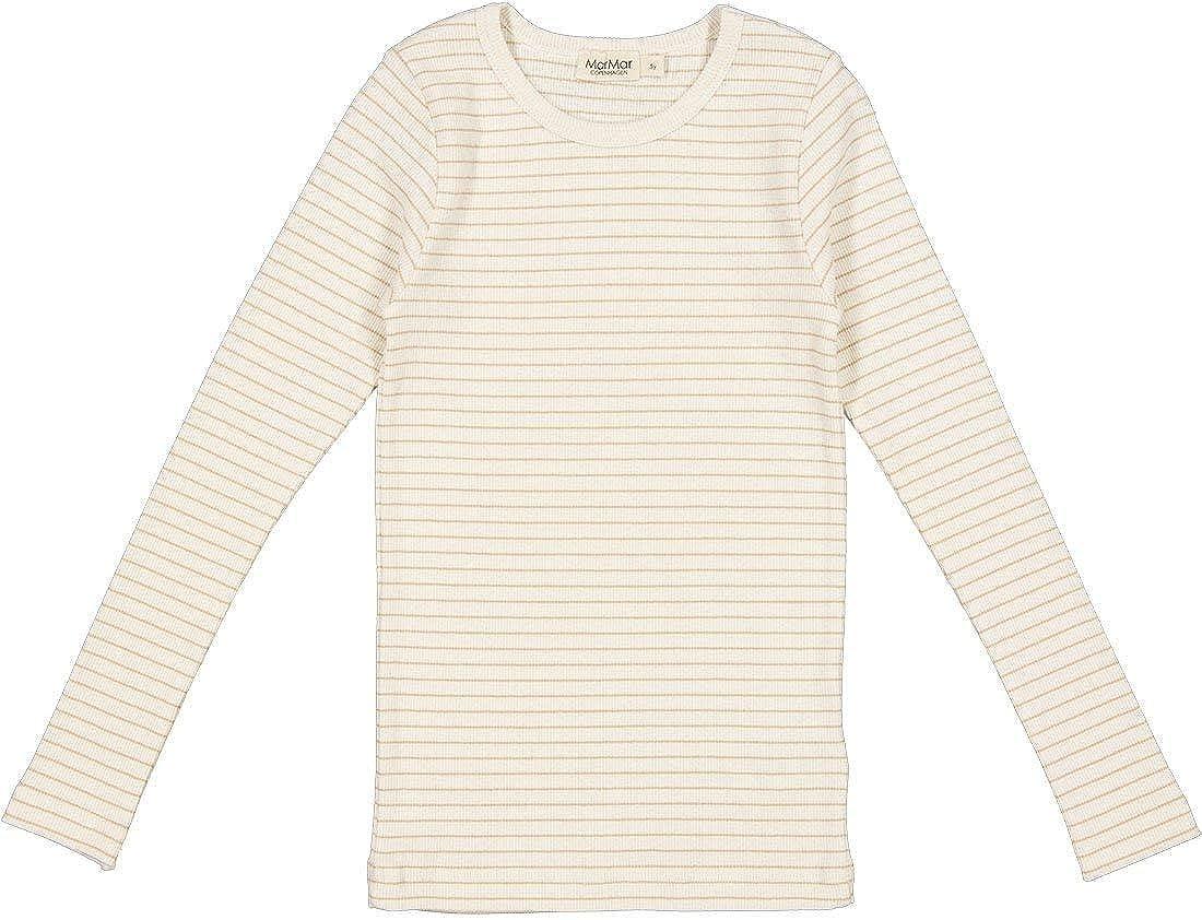 MarMar Copenhagen Children's Striped Ribbed Long Sleeve Tani Shirt