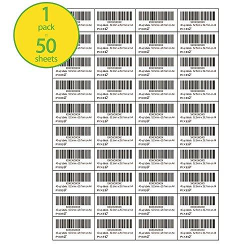 Pixel® A4 White Self Adhesive Blank Address Labels Amazon...
