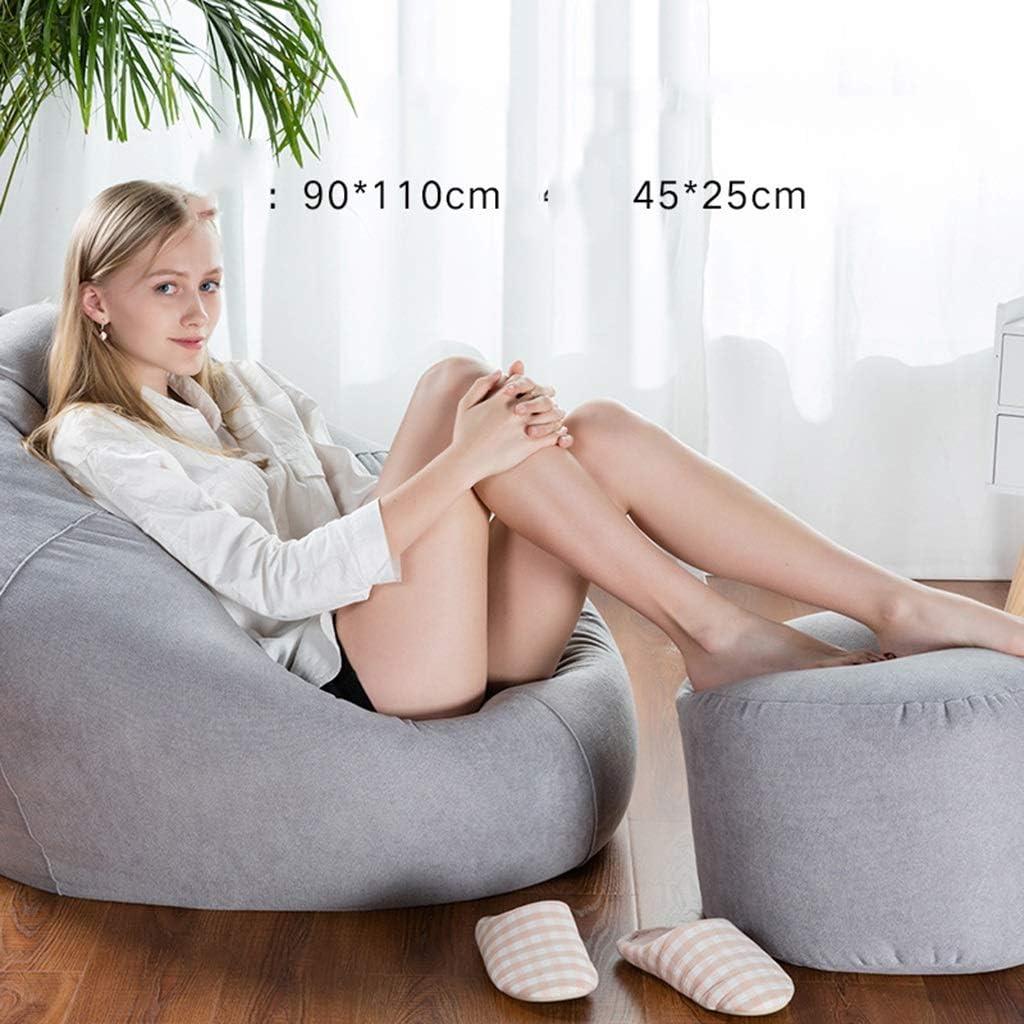 MENGQ Fauteuil Poire, Pouf, Chaise Longue, Décoration De Salon, Amovible Et Lavable (Color : B) C