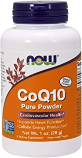 NOW Supplements, CoQ10 Pure Powder with Serving Scoop, Non-GMO Project Verified, Cardiovascular Health*, 1-Ounce