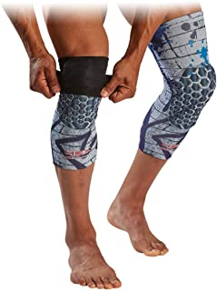 McDavid Basketball Reversible Knee Sleeves with HEX. Leg Compression Sleeve with Padding (Pair of 2)
