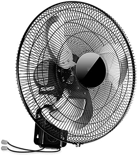EPYFFJH Ventilador eléctrico Ventilador de Pared Industrial 20 Pulgadas Montado en Pared 3 Hoja de Aluminio 120 Grados Oscilación para Sala de Estar Dormitorio Comedor