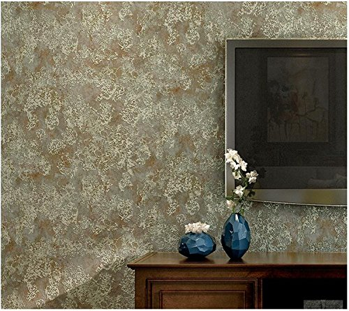 Yosot Amerikaanse retro niet-geweven stof behang woonkamer restaurant slaapkamer tv achtergrond behang Bronze Color