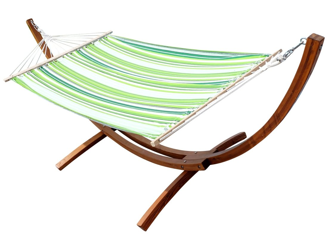 BLANCA-SOSUA from AS-S 320cm XL Deluxe wooden Hammock stand larch with Hammock
