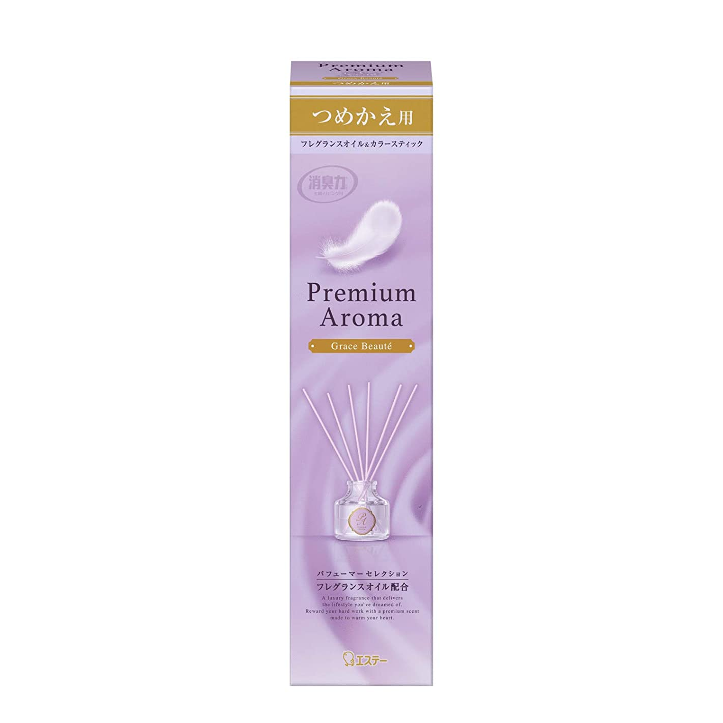 サミットかろうじてアナログお部屋の消臭力 Premium Aroma Stick プレミアムアロマ スティック 消臭芳香剤 ディフューザー 玄関?部屋用 ツメカエ グレイスボーテ 50mL