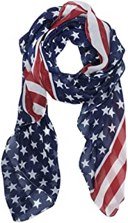 Melody Unisex Fashion Charming Patriot Patriotic US USA American Star Flag Pattern Print Shawl Scarf Wrap SCF003 Garden, Lawn, Supply, Maintenance Orange