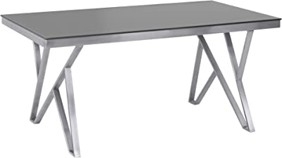 Amazon.com - Acme Furniture Dining Table in Gray Oak and ...