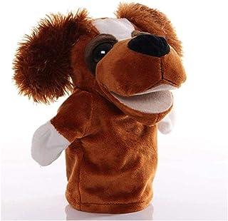 KTFBH 25 cm Big Eyes Dog Animal Hand Puppet Plush Doll Toy Soft Plush Doll Hilden Birthday Christmas Preschool Role Playin...