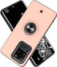 Funda para Samsung Galaxy S20 Ultra(6.9 Inch Soft TPU + Duro PC Doble Parachoques,Giroscopio Rotatorio,Botón de Descompresión, con Soporte de Anillo Funda Protectora Serie -Oro Rosa