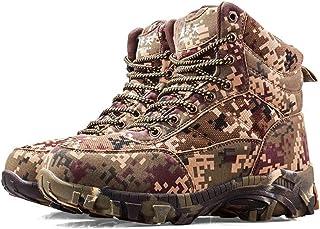 QAZW Bottes de Neige pour Hommes - Hiver Chaud - Chaussures de Camouflage antidérapantes pour Hommes - Chaussures de rando...