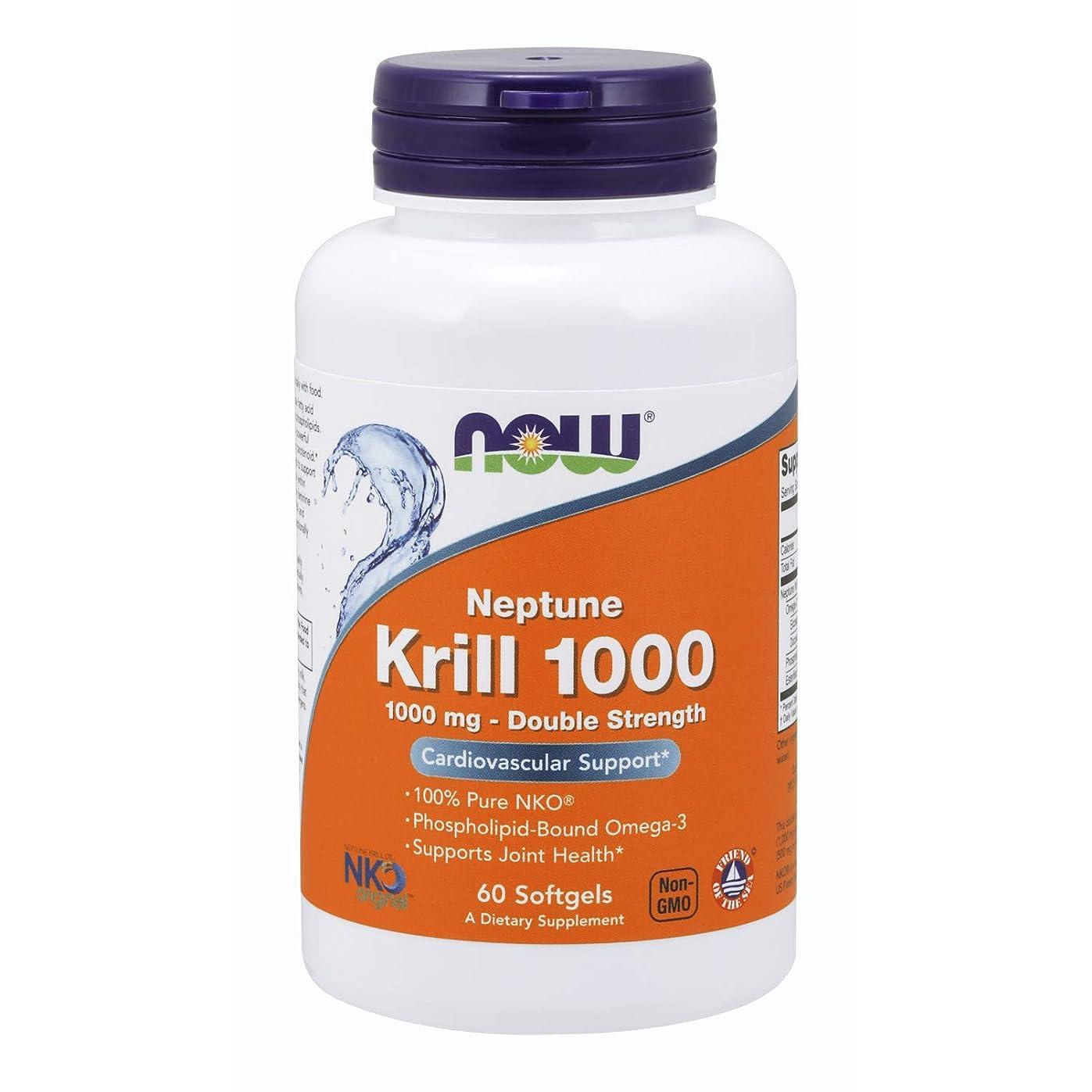 二可愛い朝[海外直送品] ナウフーズ   Neptune Krill Oil 60 Softgels 1000 mg