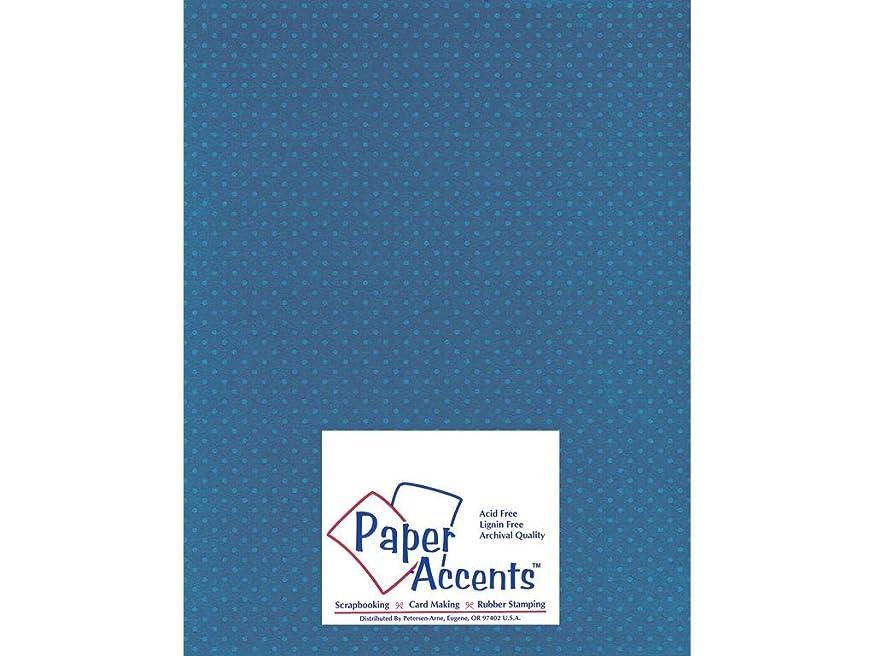 Accent Design Paper Accents Cdstk Mini Dots 8.5x11 80# Delphinium