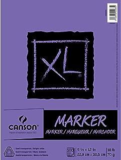 ورق ماركر من سلسلة كانسون XL، نصف شفاف للأقلام أو القلم الرصاص أو التحديد ، قابلة للطي أكثر من 8.2 كجم ، 9 × 12 بوصة ، أبي...