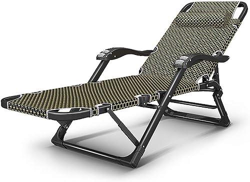 OUUCL Lit de Couchage Pliant Ultra-léger et Compact for lit de Camp, lit de Couchage Pliant, chaises de Patio, Salon de Jardin, Chaise Longue, Design Robuste for Plage de Patio, 200LB 70x26