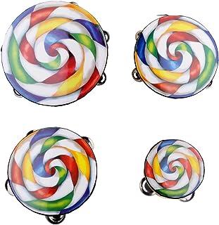 "Baosity 10"" Colorful Lollipop Tambourine Percussion Tamborine Drum Educational Toys"