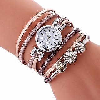 IEason,Ladies Bracelet Diamond Circle Watch Student Fashion Table (Rose Gold)