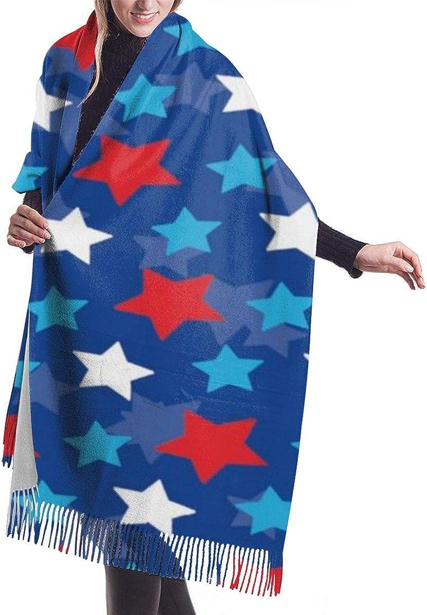 Womens Winter Scarf Cashmere Feel Pashmina Shawl Wraps Soft Warm Blanket Scarves(Animal Dinosaur Set Green Camo)