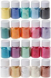 RJJX 20 kleuren Mica Poeder Epoxy Hars Dye Pearl Pigment Natural Mica Mineral Powder