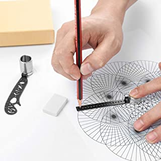 Multi-function Drawing Tool, Magnetic Compass Ruler Creative Drawing Tool, Construction Machinery Drawing Tool, Drawing To...