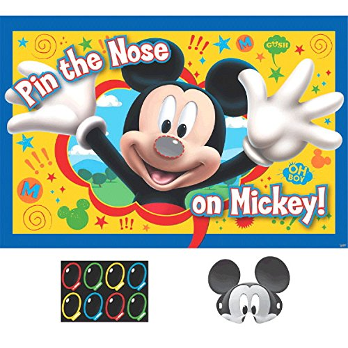 """Disney """"Mickey Mouse"""" """"Pin the Nose on Mickey"""" Party Game, Party Favor"""