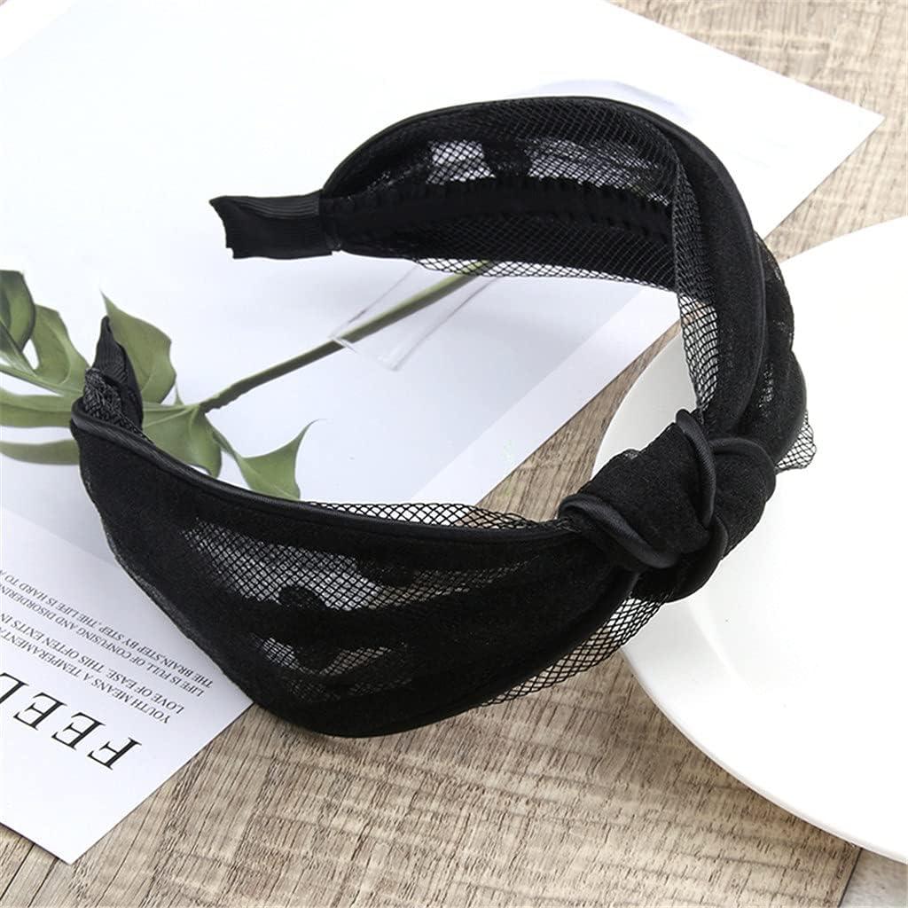 CHNOOI Polka Dot Hair Band Bangs Hair Clip All-Match Temperament Fashion Hair Accessories Wide Brim Headband Jewelry (Color : B)