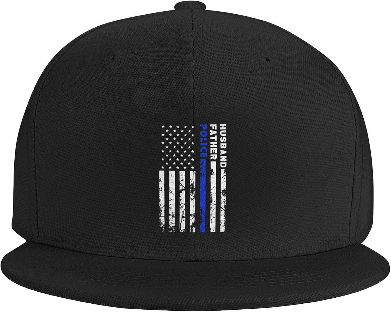 Thin Green Line USA Flag Flat Brim Baseball Hat Cowboy Hat Sun Hat Unisex