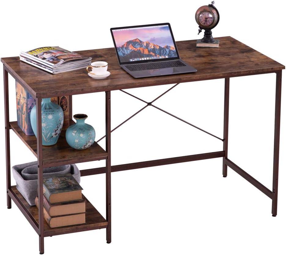 Super intense SALE Regular dealer 47'' Computer Desk with Station Office Writing Bookshelf