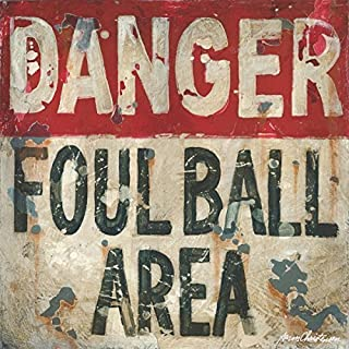 Baseball - Danger Foul Ball Sports Wall Art by Aaron Christensen Stretched Canvas Reproduction - multiple sizes available. Made in my Portland, Oregon by hand with great care.
