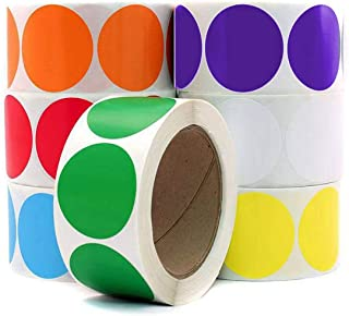 Dot Stickers for Color Coding Tags Colored Labels Collection 500/Roll - 1 inch (White)
