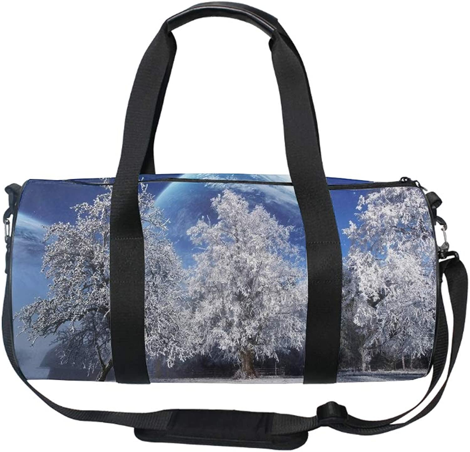 Gym Bag Winter Scenery Sports Travel Duffel Lightweight Canvas Bag