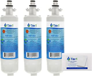 Tier1 Replacement for LG LT700P Refrigerator Water Filter (3-Pack) and Magic Erasing Sponge (12-Pack) Combo
