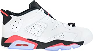 Air 6 Retro Low Men's Basketball Shoes White/Infrared 23-Black 304401-123