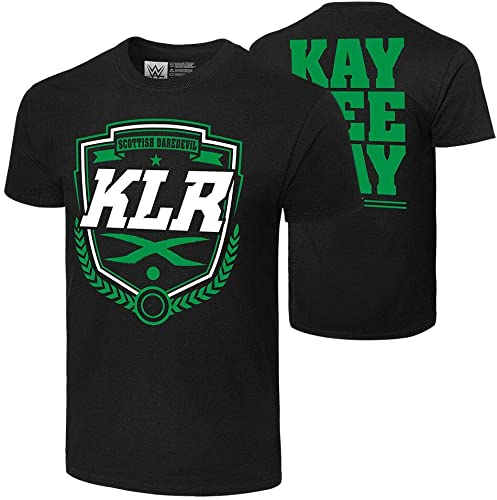 wholesale WWE Authentic Wear Kay high quality Lee Ray high quality Scottish Daredevil T-Shirt Black Medium outlet online sale