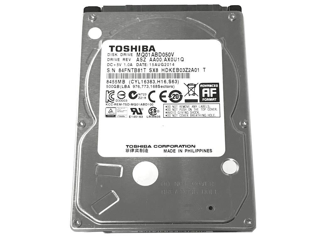 Amazon Com 500gb Toshiba 2 5 Inch Sata Laptop Hard Drive 5400rpm 8mb Cache Mq01abd050v Computers Accessories