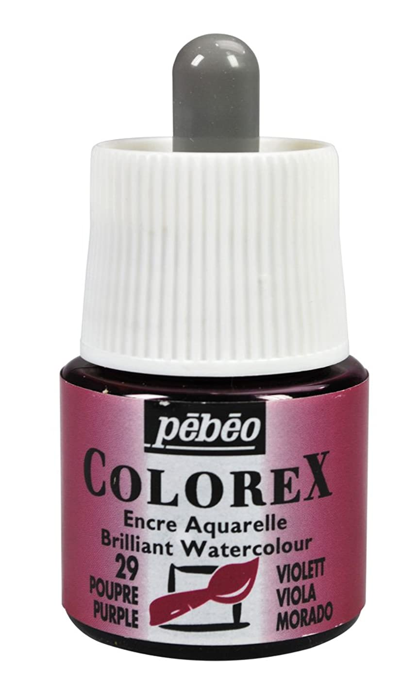 Pebeo Colorex, Watercolor Ink, 45 ml Bottle with Dropper - Purple