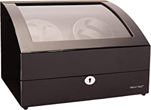 Watch Winder for Automatic Watches [Renewed], Wood Shell Piano Paint Exterior and Extremely Silent Motor, with Three Dimensional Watch Pillows, Suitable for Wrist from 28 to 50mm